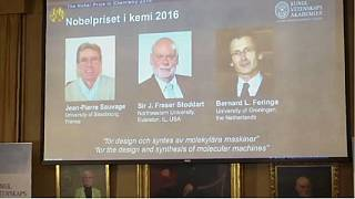 Developers of the world's smallest machines wins the 2016 Nobel Prize for Chemistry