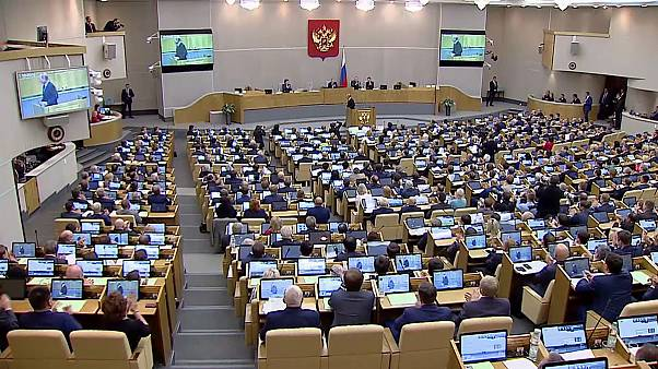 Putin delivers a speech on power, investment and defence in the Duma