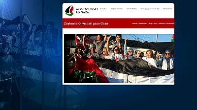 Boat of pro-Palestinian activists blocked by Israeli forces from entering Gaza