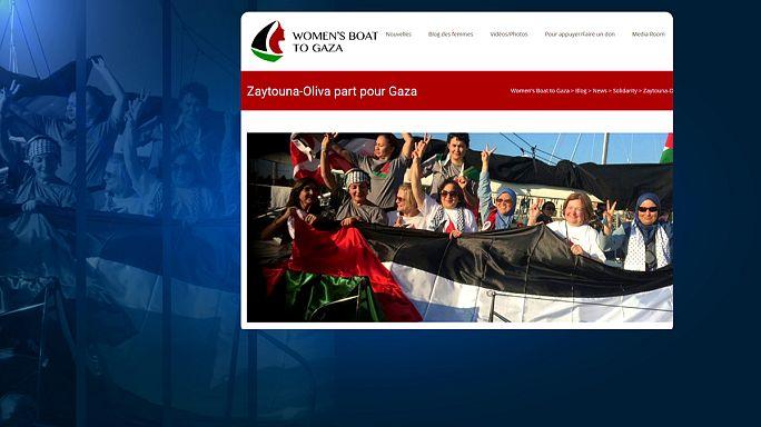 La armada israelí impide a 13 mujeres romper el bloqueo en Gaza