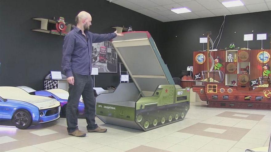 Rakétakilövő formájú ágyat készítettek Oroszországban
