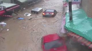 South Korea: typhoon Chaba causes severe flooding