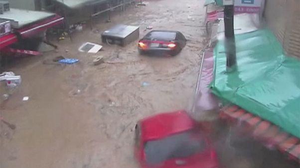 طوفان چابا در کره جنوبی قربانی گرفت