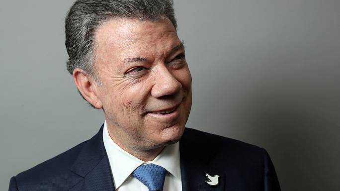 President of Colombia Juan Manuel Santos wins the 2016 Nobel Peace Prize