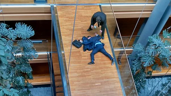 UKIP MEP collapses outside EU parliament