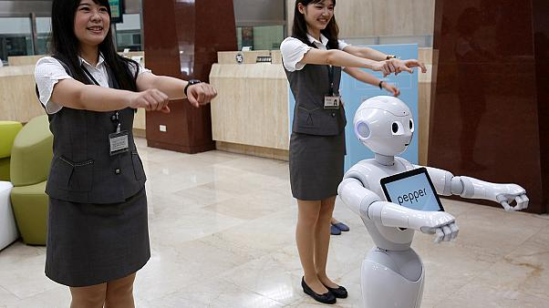 Bored at the bank? Pepper is here to help