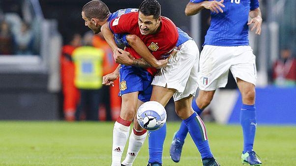 Empate a errores entre Italia y España
