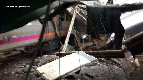 السرعة المفرطة هي سبب حادث اصطدام القطار بمحطة قطارات بولاية نيوجيرسي الأمريكية