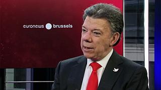 Santos tells euronews ending violence in Colombia his priority