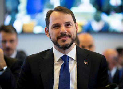 Family affair: Finance Minister Berat Albayrak is also Erdogan\'s son-in-law.