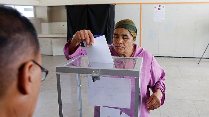 Fas'ta genel seçimler için halk sandık başında