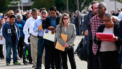 La ralentización de empleo en EE.UU. empaña una posible subida de tipos