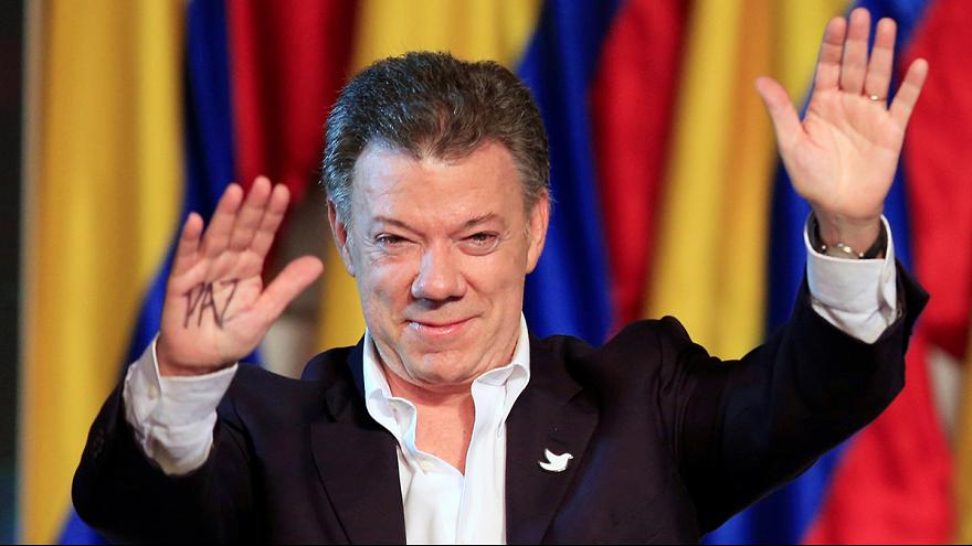 Juan Manuel Santos dedicates Nobel Peace Prize to Colombians, past and present