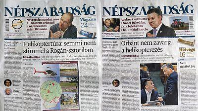 Hungarian opposition daily Népszabadság shut down suddenly