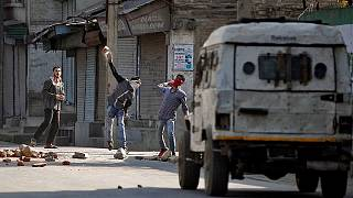 Clashes erupt at anti-India protests after boy's killing