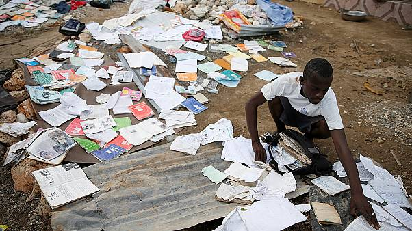 A Matthew hurrikán pusztítása Haitin