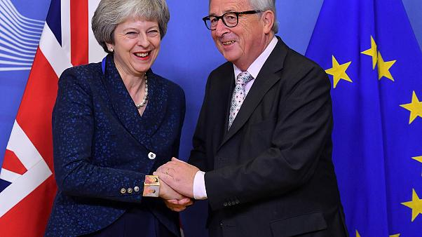 Image: EU Commission President Jean-Claude Juncker and Britain's Prime Mini