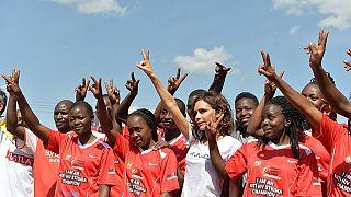 Mrs Beckham completes three-day HIV awareness mission to Kenya