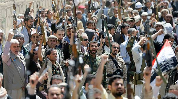 Yemenis protest after airstrikes kill over 140 at funeral