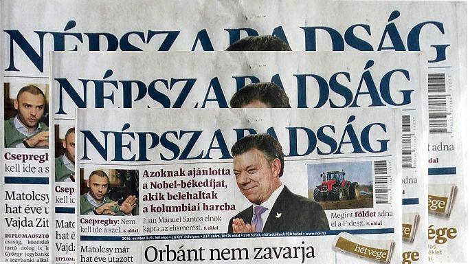 Ungheria. La chiusura del giornale Népszabadság è pura censura secondo la direzione