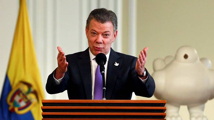 Colombia's President to donate his Nobel Prize money to FARC victims