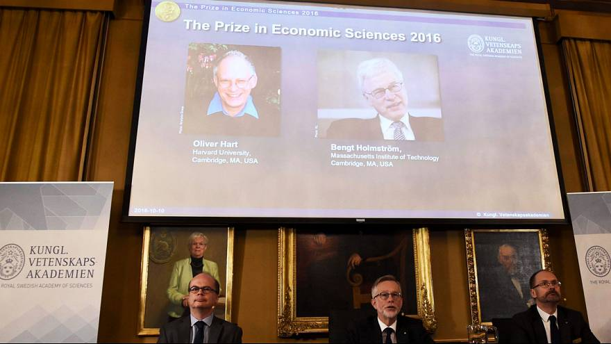 Oliver Hart and Bengt Holmström win The Sveriges Riksbank Prize in Economic Sciences in Memory of Alfred Nobel