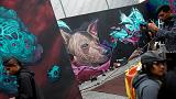Graffiti-Festival verschönert Mexiko-Stadt