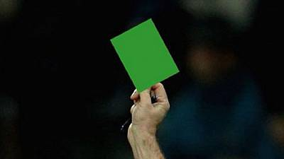 Football: first-ever green card awarded in Italy