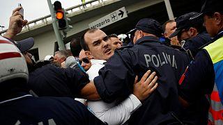 Portekiz'de Uber protestosu