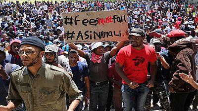 Afrique du Sud : violentes protestations à la réouverture de l'Université Witwatersrand à Johannesburg
