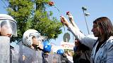 صدامات بين الشرطة ومتظاهرين في ذكرى هجوم أنقرة الدامي