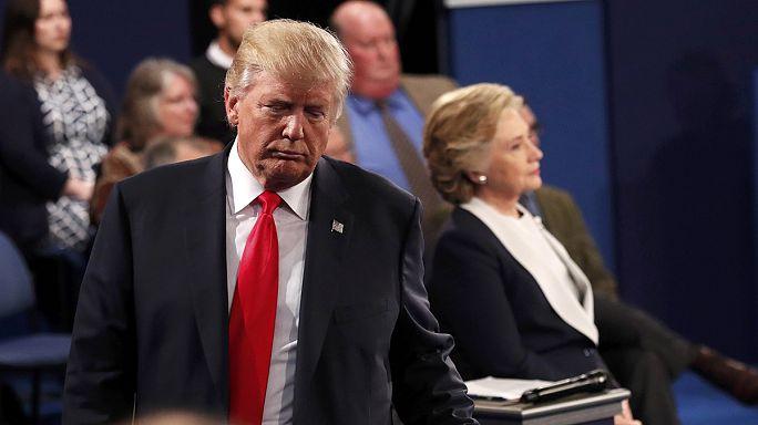 Trump Clinton'ı eşinin taciz skandallarıyla vurdu