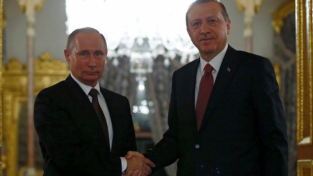 Putin und Erdogan einigen sich auf Gaspipeline Turkish Stream