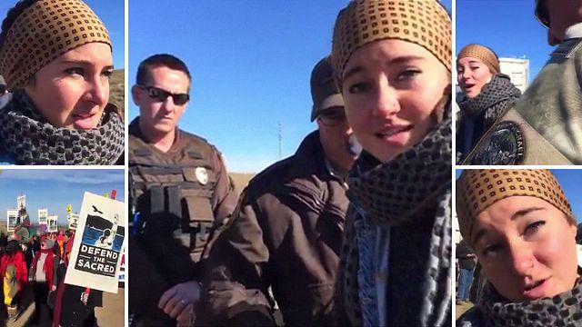 السلطات الأميركية توقف ممثلة خلال تظاهرة ضد مد أنابيب نفطية