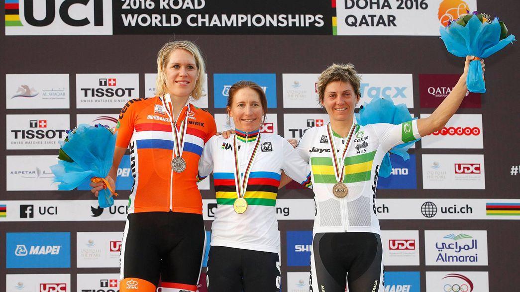 Aos 41 anos, Amber Neben sagra-se campeã do mundo de contrrelógio em bicicleta