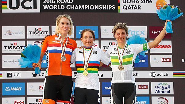 Radrennen - zweiter WM-Titel mit 41 für Amber Neben