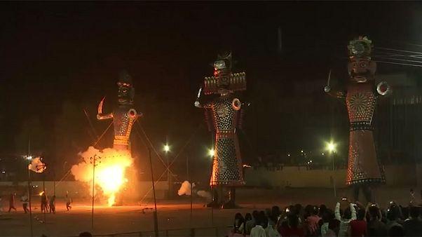 """احتفالات """"دوسهرا"""" في الهند"""