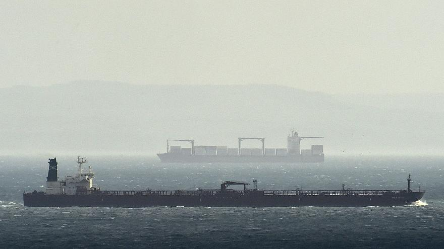 Image: Cargo ships in the English Channel