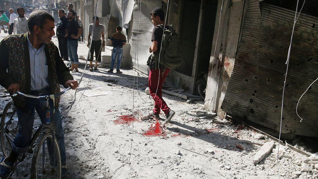 Síria: Bombardeamentos matam civis em Alepo