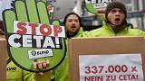 German judges hear Canada free trade deal case
