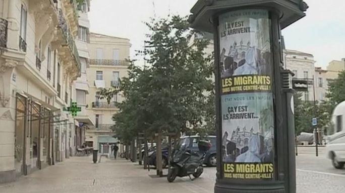 """""""Ya llegan ..."""", nueva campaña contra los migrantes en Béziers, Francia"""