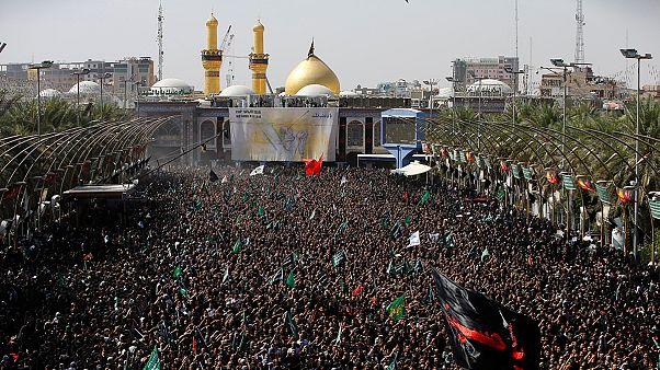 Vallási ünnep az iraki Kerbelában
