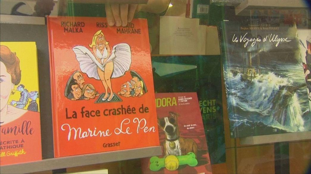 Marine Le Pen als Comicfigur