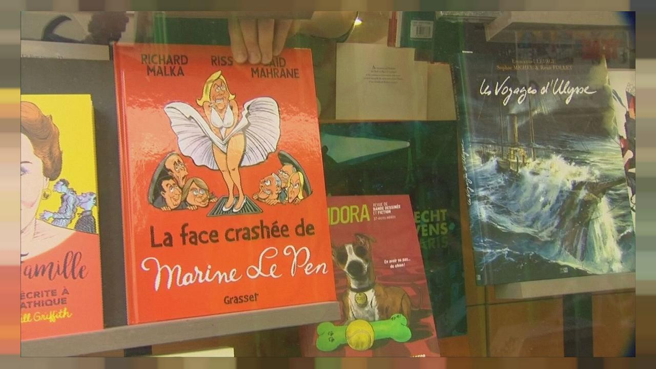 Un fumetto con Marine Le Pen