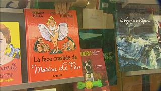 """كتاب كاريكاتيري بعنوان"""" الوجه المحطم لمارين لوبان"""" حاليا بالأسواق العالمية"""