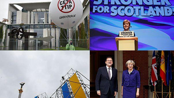 Breves de Bruxelas: votos sobre CETA e referendo na Escócia em destaque
