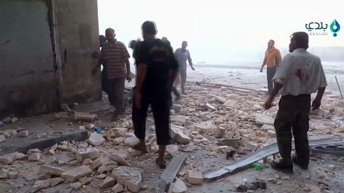Gyerekek haltak meg egy bombatámadásban Aleppóban