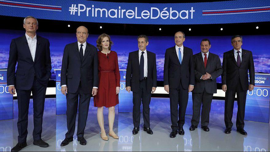 Fransa'da merkez sağ aday adayları canlı yayında kozlarını paylaştı