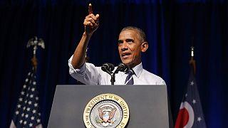باراك اوباما يدعم هيلاري كلينتون من أوهايو