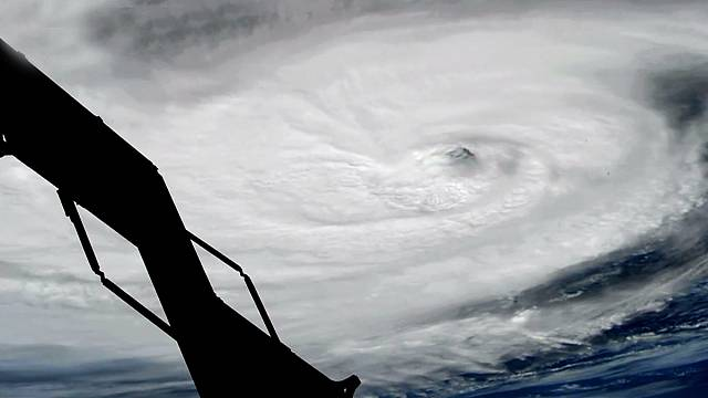 Footage of Hurricane Nicole as seen from the International Space Station